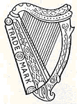 Guinness harp as it appeared in 1862