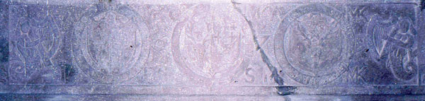 Photograph of the Kilcoy Castle mantle carving.