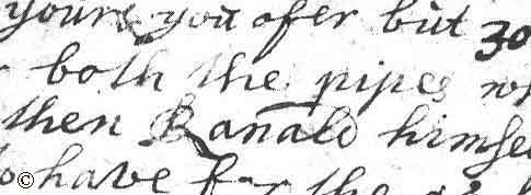 image showing Ranald's name