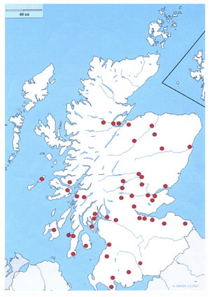 The Map of the Clarsach in Scotland