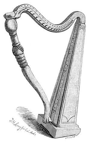 The harp belonging to Dr. Frazer