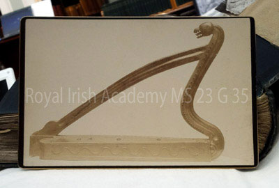Royal Irish Academy Bell harp photo