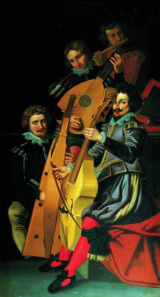 Reinhold Timm painting of Christian iv's court musicians