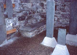 old photograph of grave slab