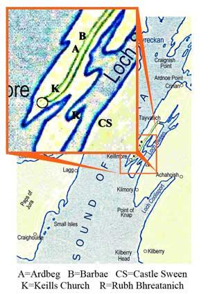 Map of Keills