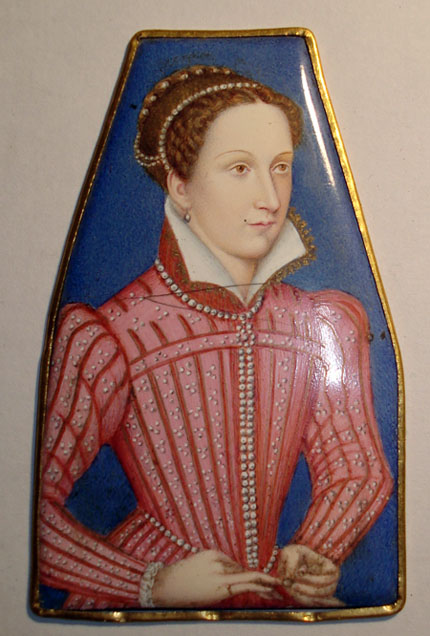 —Portrait of Mary Queen of Scots affixed to the Napier-Glen harp—
