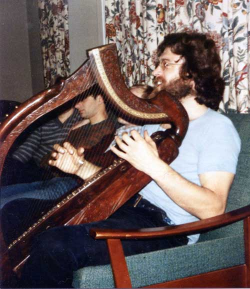 —Paul Guppy with the possible Glen harp—