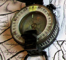 photograph of an old compass.