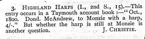 The only reply that Robert Bruce Armstrong received from his advertisement placed in 'Scottish Notes And Queries'