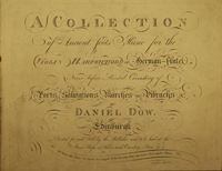 title page of the Daniel Dow Collection.