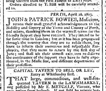 Edinburgh Courant 28 April, 1803