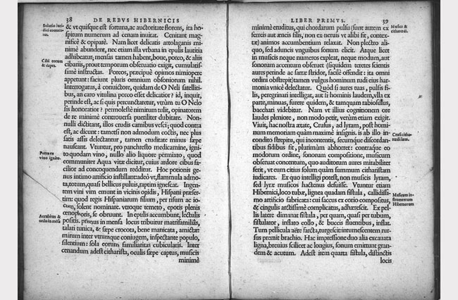 Scan of de rebus in Hibernia Gestis by Stanihurst