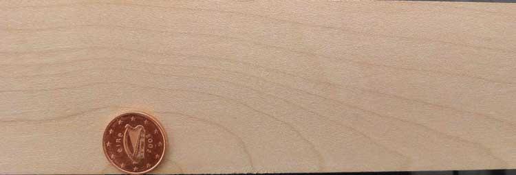 Sycamore wood, plain sawn.