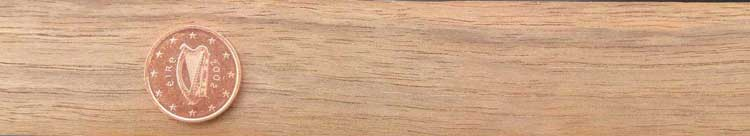 Photograph of a section of walnut wood, plain sawn.